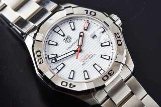 Tag Heuer Aquaracer 43mm WAY2013.BA0927 White Dial BNIB