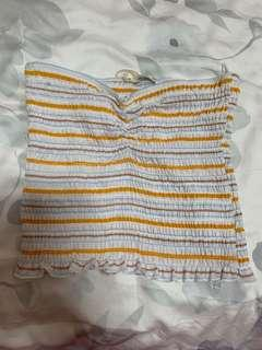 cotton on striped tube top