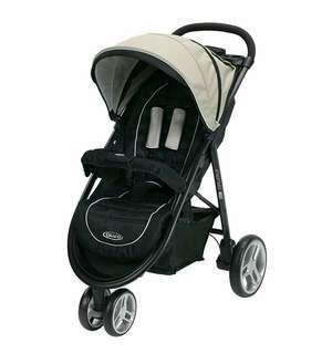 🚚 Graco Aire3 Click Connect Stroller, Pierce, One Size