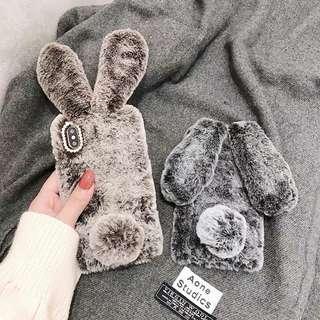 Fluffy Rabbit iphone8/7plus/X/6/6s Casing