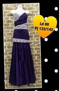 Dress pesta mermaid/purple dress