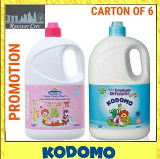 🚚 Kodomo Baby Fabric Wash Laundry Detergent (6 x 2000ml)