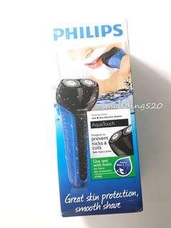 全新 PHILIPS 飛利浦 Aqua Touch 系列可充電乾濕兩用電鬚刨 AT600