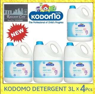 🚚 PROMOTION Kodomo Baby Fabric Wash Laundry Detergent (4 x 3000ml) $52.90 INCLUDING FREE DELIVERY