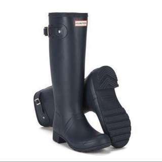 Hunter boots海軍藍深藍色長靴