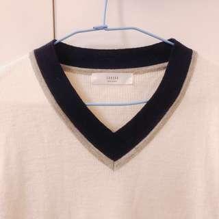 🚚 正韓 深藍灰色針織衫