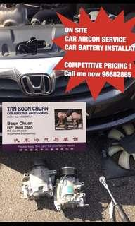 *ON-SITE* CAR AIRCON SERVICING & CAR BATTERY REPLACEMENT ! Car air con service car AIRCON repair ! Car change battery mobile on site car compressor servicing car cooling coil replacement ! Call me now ! @96682885