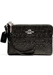 🚚 Limited Edition Coach Black Gold Leather Wristlet (Wallet Purse Pouch Bag Handbag Coinpouch Keyholder Cardholder Card Holder Keypouch Phone Luxury)