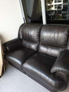 Leather Recliner Sofa Two seater