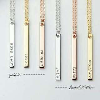 Custom made necklace