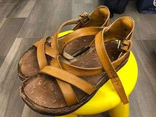 Male leather handmade sandal