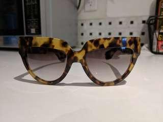 Authentic Prada Tortoiseshell Gradient Cat Eye Sunglasses