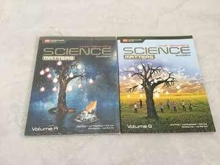 Science Matters Lower Secondary Textbook Vol A & B