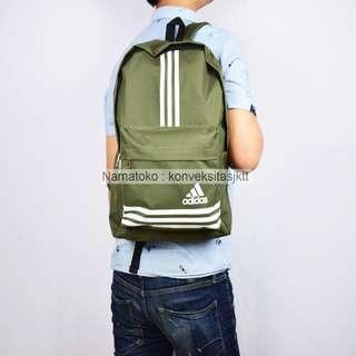 Tas Ransel sekolah pria wanita laptop Adidas 16060 - Hijau