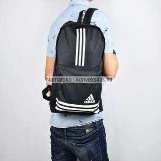 Tas Ransel sekolah pria wanita laptop Adidas 16060 - Hitam