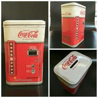 Coca cola metal coin bank