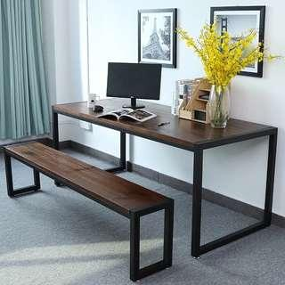 OXFORD Rustic Ultra Slim Wooden Dining Table