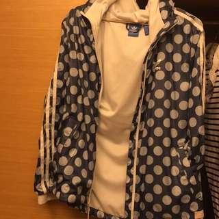🚚 Adidas original 防風點點外套38號9成新