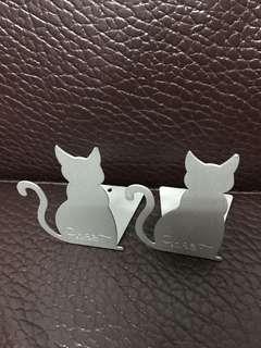 🚚 鐵製小貓咪書擋
