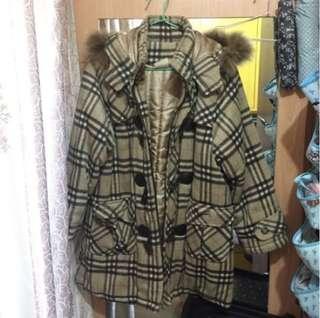 Camel Coat - checkered