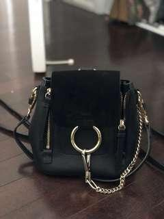 Pre-owned mini Chloe Faye backpack in black