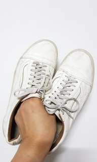 Vans oldskool OG White leather Size 11,5 atau 45