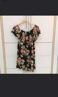 F21 tropical sabrina dress