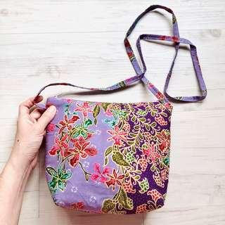 🚚 Batik Sling Bag Handmade in Singapore