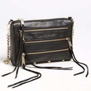Rebecca Minkoff Five Zipper Cross body purse (small)