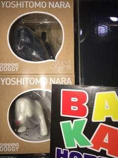 Yoshitomo Nara 奈良美智 Sinning Doggy                Set of 2pcs 不散賣