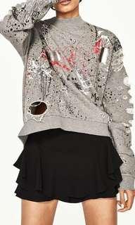 Distressed sweatshirt ZARA
