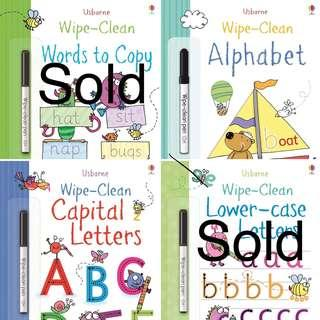 🚚 Brand new Usborne wipe clean books