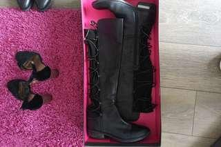 Vince camuto boots leather size 7.5