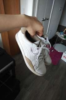 Puma white sneakers 7.5