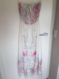 Bardot size 6 floral maxi dress