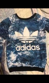 Adidas 撞色大學t