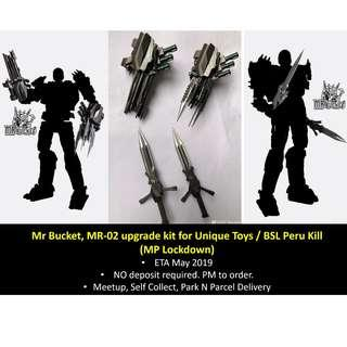 [Preorder] Mr Bucket, MR-02 MR02, weapons upgrade kit for Unique Toys / BSL Peru Kill (MP Lockdown)