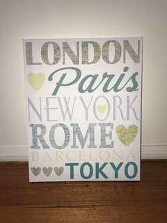 Travel, Canvas Wall Hanging