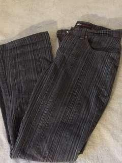 Fitted Striped Pants