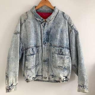 Vintage Levi's Acid Wash Denim Jacket