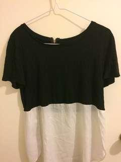 Black & White block top