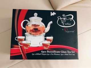 Authentic La Gourmet Teapot Set - 6pcs Borosilicate Glass Tea Set
