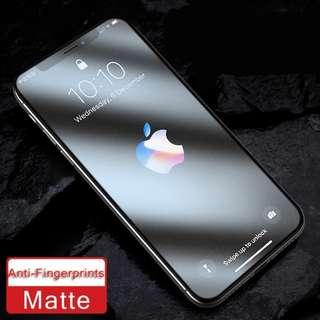 Matte 9H Full Coverage HD Tempered Glass for iPhone Xr