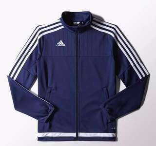 Adidas Tiro 15 Dark Blue Sports Jacket Youth L Adult Small