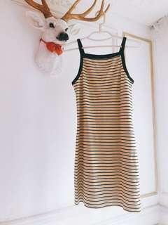 條紋連身裙$80monki