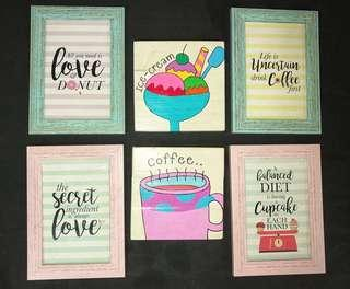 Customised Kitchen Decor Frame Art with funny quotes