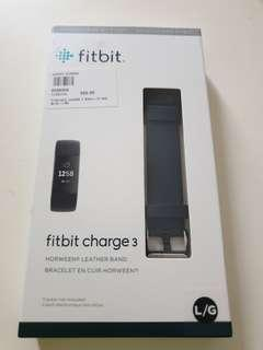🚚 Fitbit Charge 3 Strap Only in Leather. BNIB. Original.