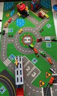 Hot wheels police station, fire station & other vehicles