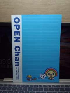🚚 Open小將16K加厚空白筆記本