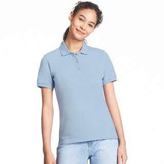 NEW uniqlo pique women polo shirt kaos polo wanita size S
